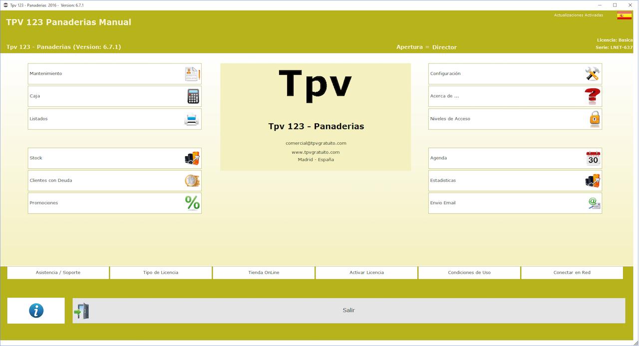 TPV 123 Panadería y Pastelería